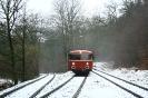 Auf den Gleisen der Kreisbahn Siegen-Wittgenstein, von Pfannenberg kommend zur Spitzkehre Zobach und weiter runter nach Salchendorf (26.1.2019)