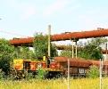 ThyssenKrupp Lok 546am 27.7.2019 auf dem Weg vom Werk nach Oberhausen-West hier bei der Durchfahrt im Landschaftspark Nord; vormals Hüttenbetrieb Meiderich.